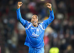 Hearts v St Johnstone....11.01.11  Scottish Cup.Michael Duberry celebrates at full time.Picture by Graeme Hart..Copyright Perthshire Picture Agency.Tel: 01738 623350  Mobile: 07990 594431