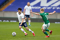 BELFAST, NORTHERN IRELAND - MARCH 28: Luca de la Torre #12 of the United States during a game between Northern Ireland and USMNT at Windsor Park on March 28, 2021 in Belfast, Northern Ireland.