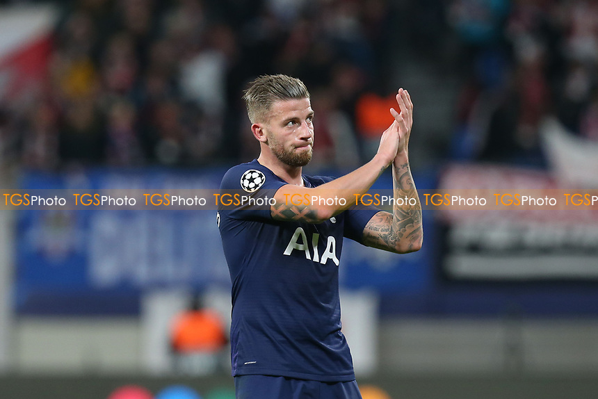 A tearful looking JToby Alderweireld of Tottenham Hotspur afterRB Leipzig vs Tottenham Hotspur, UEFA Champions League Football at the Red Bull Arena on 10th March 2020