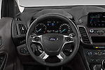 Car pictures of steering wheel view of a 2019 Ford Tourneo-Connect Trend 5 Door Mini Mpv Steering Wheel