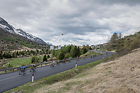 big chasing group coming down the first climb<br /> <br /> Stage 17: Tirano › Canaze (219km)<br /> 100th Giro d'Italia 2017