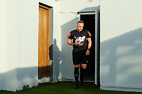 Referee Alan Patchell before the game.<br /> <br /> Cobh Ramblers v Cork City, SSE Airtricity League Division 1, 28/5/21, St. Colman's Park, Cobh.<br /> <br /> Copyright Steve Alfred 2021.