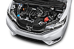 Car Stock 2017 Honda Fit EX 5 Door Hatchback Engine  high angle detail view