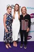 LONDON, UK. June 28, 2019: Martina Navratilova, Caroline Wozniacki & Chris Evert  arriving for the WTA Summer Party 2019 at the Jumeirah Carlton Tower Hotel, London.<br /> Picture: Steve Vas/Featureflash