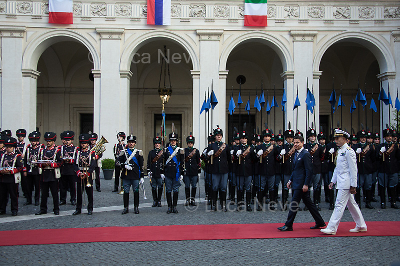 Admiral Sq. Carlo Massagli (Military Advisor to the Prime Minister and Head of the Secretariat Office).<br />