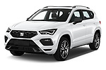 2020 Seat Ateca FR 5 Door SUV Angular Front automotive stock photos of front three quarter view