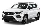 2020 Seat Ateca FR 5 Door SUV Angular Front automotive stock photos of front three quarter view