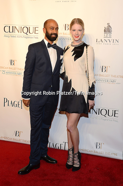 Brandon Fernandez and Lauren Post attends the Opening Night of American Ballet Theatre 2014 Fall Gala on October 22,2014 at the David Koch Theater at Lincoln Center in New York City. <br /> <br /> photo by Robin Platzer/Twin Images<br />  <br /> phone number 212-935-0770