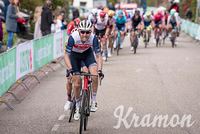 Bauke Mollema (NED/Trek-Segafredo) up the final ascent of the Geulhemmerberg<br /> <br /> 55th Amstel Gold Race 2021 (1.UWT)<br /> 1 day race from Valkenburg to Berg en Terblijt; raced on closed circuit (NED/217km)<br /> <br /> ©kramon