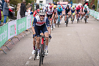Bauke Mollema (NED/Trek-Segafredo) up the final ascent of the Geulhemmerberg<br /> <br /> 55th Amstel Gold Race 2021 (1.UWT)<br /> 1 day race from Valkenburg to Berg en Terblijt; raced on closed circuit (NED/217km)<br /> <br /> ©kramon