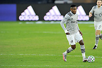 WASHINGTON, DC - NOVEMBER 8: Romell Quioto #30 of Montreal Impact moves the ball during a game between Montreal Impact and D.C. United at Audi Field on November 8, 2020 in Washington, DC.
