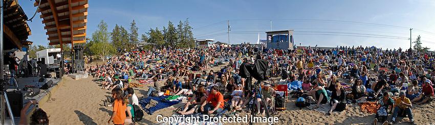 Folk on the Rocks music festival in Yellowknife.