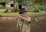 Luca Castillo Perez, a campesino of some renown in the Sierra Maestra.<br /> His grandfather, Luca Castillo, was a key supply aide to Fidel Castro when he was hiding in a mountain compound near here.  <br /> Luca was captured by the Batista forces and brutally torturted to his death in a public square.