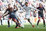Real Madrid´s Cristiano Ronaldo and Celta de Vigo´s Jonny during 2015/16 La Liga match between Real Madrid and Celta de Vigo at Santiago Bernabeu stadium in Madrid, Spain. March 05, 2016. (ALTERPHOTOS/Victor Blanco)