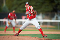 Batavia Muckdogs pitcher Joe Scanio #33 during game two of a NY-Penn League doubleheader against the Jamestown Jammers at Russell Diethrick Park on September 5, 2012 in Jamestown, New York.  Jamestown defeated Batavia 3-2.  (Mike Janes/Four Seam Images)