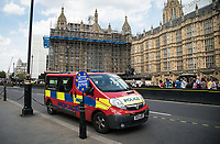 POLICE around Westminster on the day of the European Elections in Westminster, London, England on 23 May 2019. Photo by Andy Rowland.
