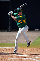 Siena Saints third baseman Brett Connors (2) at bat during a game against the UCF Knights on February 21, 2016 at Jay Bergman Field in Orlando, Florida.  UCF defeated Siena 11-2.  (Mike Janes/Four Seam Images)