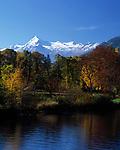 Oesterreich, Salzburger Land, Herbst am Zeller See: mit Kitzsteinhorn (3.203 m) und Glocknergruppe   Austria, Salzburger Land, autumn at Zeller Lake with Kitzsteinhorn mountain (3.203 m) and Glockner mountain range