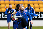 St Johnstone Training...21.05.21<br />David Wotherspoon pictured during training at McDiarmid Park this morning ahead of tomorrow's Scottish Cup Final against Hibs.<br />Picture by Graeme Hart.<br />Copyright Perthshire Picture Agency<br />Tel: 01738 623350  Mobile: 07990 594431