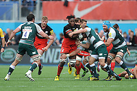Maro Itoje of Saracens in action during the Aviva Premiership semi final match between Saracens and Leicester Tigers at Allianz Park on Saturday 21st May 2016 (Photo: Rob Munro/Stewart Communications)