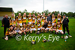 A jubilant  Abbeydorney celebrate in winning the Div 3 Co Hurling League after their win over Crotta.
