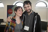 February 4,2013 File Photo - Forum sur la Chanson Quebecoise - Pascale Picard (L), Marc Chabot (M), Louis-Jean Cormier (R)