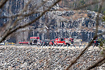 COLEBROOK, CT. 31 December 2018-123118 - Fire and emergency crews respond to the access road on the Colebrook River Lake Dam of reports of a missing person in Colebrook on Monday. CT State Police and Fire Departments from Colebrook, Barkhamsted, Winsted,and Tolland, MA as well were helping assist in the search of the missing person. Bill Shettle Republican-American