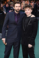 """David Tennant and son, Ty Tennant<br /> arriving for the """"TOLKIEN"""" premiere at the Curzon Mayfair, London<br /> <br /> ©Ash Knotek  D3499  29/04/2019"""