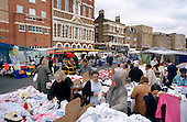 Hoxton Market and restored buildings on Hoxton High Street, Hackney, London.