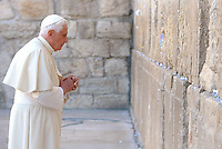 Pope Benedict XVI visits the Western Wall, Judaism's holiest prayer site, in Jerusalem's Old City May 12, 2009.