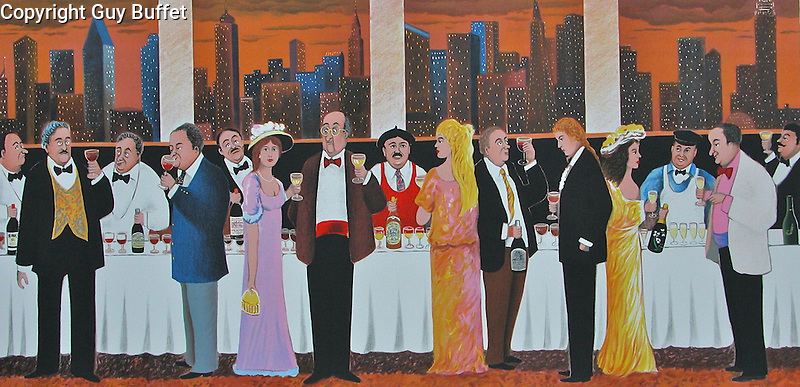 """""""Wine Tasting""""<br /> Limited Edition Lithograph Paper 17x34<br /> SN 1,200<br /> SN W/Original Watercolor Remarque $1,600"""