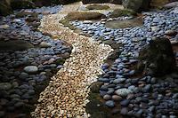 Rock Sculpture in Japanese Gardens at Na Aina Kai Botanical Gardens, Kauai, Hawaii