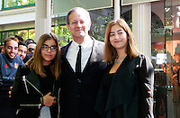 FRANCIS HUSTER & ses filles - 25eme Ceremonie des Trophees UNFP au Pavillon Gabriel