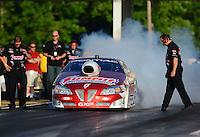May 4, 2012; Commerce, GA, USA: NHRA pro stock driver Greg Anderson during qualifying for the Southern Nationals at Atlanta Dragway. Mandatory Credit: Mark J. Rebilas-