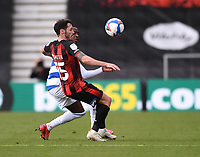 17th October 2020; Vitality Stadium, Bournemouth, Dorset, England; English Football League Championship Football, Bournemouth Athletic versus Queens Park Rangers; Bright Osayi-Samuel of Queens Park Rangers competes for the ball with Adam Smith of Bournemouth