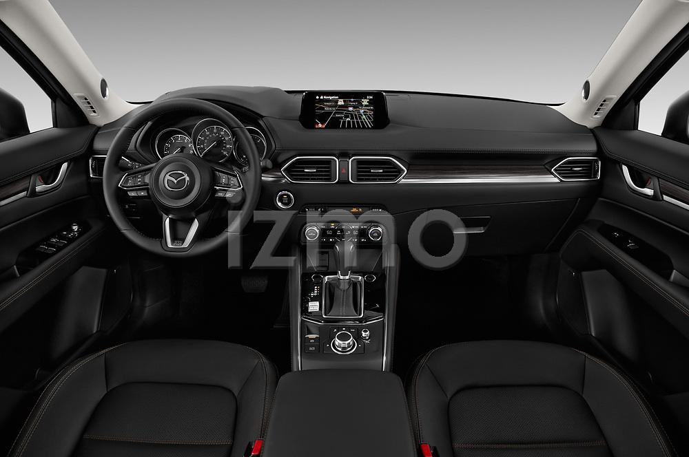 Stock photo of straight dashboard view of 2018 Mazda CX-5 Grand-Touring 5 Door SUV Dashboard