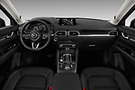 Stock photo of straight dashboard view of 2018 Mazda CX-5 Grand-Touring 5 Door SUV Dashboard