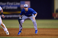 Dunedin Blue Jays first baseman PK Morris (12) during a game against the Tampa Tarpons on May 7, 2021 at George M. Steinbrenner Field in Tampa, Florida.  (Mike Janes/Four Seam Images)