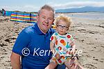 Enjoying the beach in Ballyheigue on Sunday, l to r: Oisin and Paul O'Keeffe.
