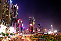 Hong Kong city skyline at night, Hong Kong SAR, China, Asi