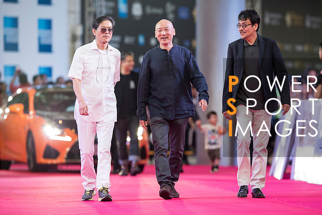 Chen Guoxing, Li Yang, Sun Zhou, Zhang Jianya, Guo Fan, and Wen Jun walk the Red Carpet event at the World Celebrity Pro-Am 2016 Mission Hills China Golf Tournament on 20 October 2016, in Haikou, China. Photo by Victor Fraile / Power Sport Images