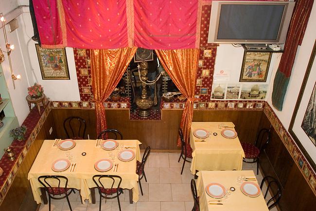 Interior, Shalaam Bombay Restaurant, Florence, Tuscany, Italy