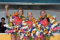 KAATSEN: WEIDUM: 27-09-2020, Dames PC, winnaars Manon Scheepstra, Marrit Zeinstra en Nienke Sijbrandij, ©foto Martin de Jong