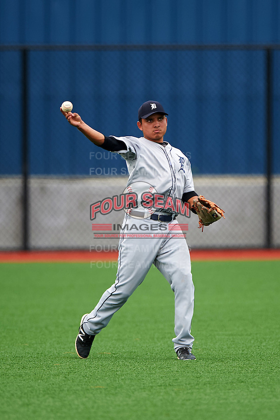 GCL Tigers West center fielder Ariel Serrano (31) during a game against the GCL Tigers East on August 4, 2016 at Tigertown in Lakeland, Florida.  GCL Tigers West defeated GCL Tigers East 7-3.  (Mike Janes/Four Seam Images)