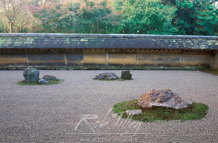 Asia, Japan, Kyoto, Ryoanji Temple,  Rock Garden