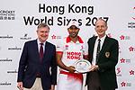 Hong Kong Team receives the Plate award during Day 2 of Hong Kong Cricket World Sixes 2017 Award Presentation at Kowloon Cricket Club on 29 October 2017, in Hong Kong, China. Photo by Vivek Prakash / Power Sport Images