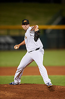 Mesa Solar Sox relief pitcher Alex Lange (32), of the Detroit Tigers organization, during an Arizona Fall League game against the Scottsdale Scorpions on September 18, 2019 at Sloan Park in Mesa, Arizona. Scottsdale defeated Mesa 5-4. (Zachary Lucy/Four Seam Images)