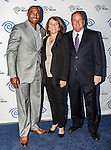 Darren Woodson, Carole Hart and John McKay at the Time Warner Media Cabletime Upfront media event held at the Private Social Restaurant  in Dallas, Texas.