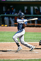 Demi Orimoloye (18) of the Helena Brewers at bat against the Ogden Raptors in Pioneer League action at Lindquist Field on July 16, 2016 in Ogden, Utah. Ogden defeated Helena 5-4. (Stephen Smith/Four Seam Images)