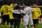 14.02.2020, Signal Iduna Park, Dortmund, GER, 1. BL, Borussia Dortmund vs Eintracht Frankfurt, DFL regulations prohibit any use of photographs as image sequences and/or quasi-video<br /> <br /> im Bild / picture shows / Schlussjubel / Schlußjubel / Emotion / Freude / der Mannschaft von Dortmund <br /> <br /> Foto © nordphoto/Mauelshagen
